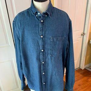 Men's Denim long sleeve Shirt